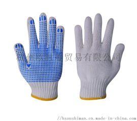 腈滌加厚耐磨勞保白手套 基礎施工防護