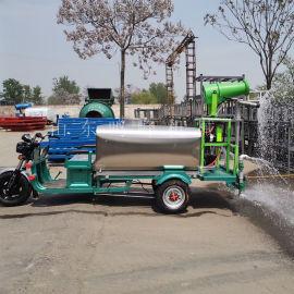 工地施工小型三轮洒水车, 48V大功率电机洒水车