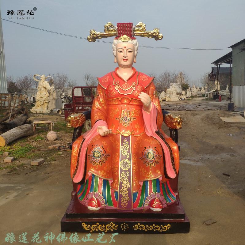 华岳三圣母神像雕塑 圣母庙圣母娘娘像 三仙圣母佛像