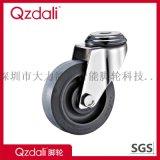 中型不鏽鋼灰色人造膠平面有腳輪
