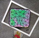方形夜光变色几何图案化妝箱女士化妆刷收纳箱
