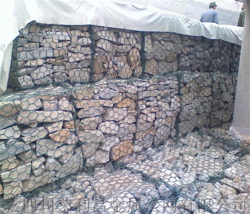 成都护坡石笼网 成都镀锌石笼网 成都包塑护坡石笼网