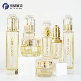 巴寶莉系列套裝瓶 高檔化妝品玻璃瓶包材 八角瓶