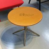 不鏽鋼實木板茶幾餐桌