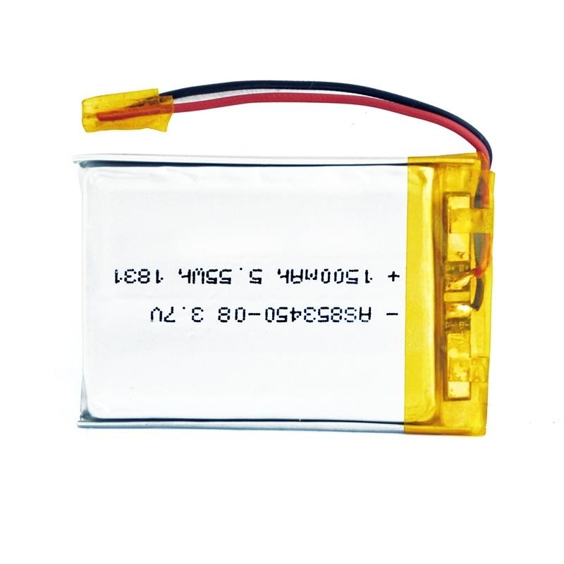 853450 3.7v 1500mah聚合物锂电池
