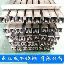 深圳201不锈钢矩型槽管现货,拉丝不锈钢矩型槽管