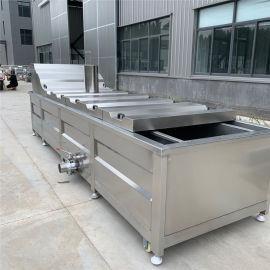 全自动海鲜漂汤设备 海带连续式蒸煮漂烫机
