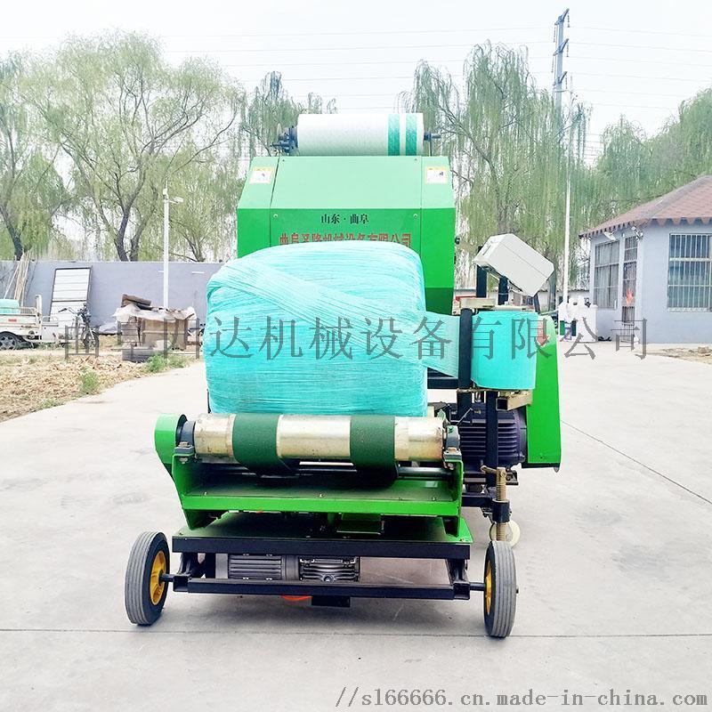 青贮圆捆机 打捆包膜机厂家 全自动青贮打捆机