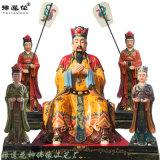 东岳大帝神像 泰山爷武成王塑像 泰山奶奶神像