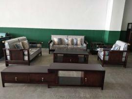 新中式进口橡木客厅组合家具沙发