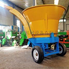 养殖场专用草捆式秸秆粉碎机 圆筒式草捆破碎机