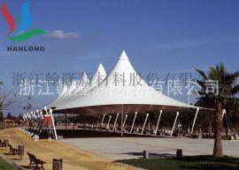 汽车遮阳雨篷张拉膜 PVC膜结构停车棚膜布 展览中心顶棚张拉膜布