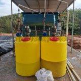 广西钦州市养猪场污水处理设备 竹源定制一体化气浮机