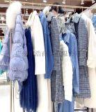 女装品牌折扣蒂言冬V领气质连衣裙视频看货