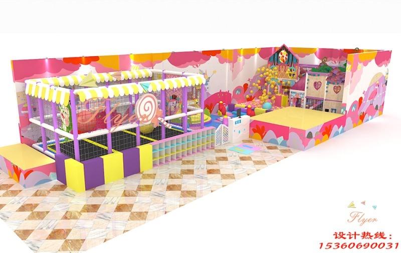 厂家直销新型糖果主题淘气堡室内儿童乐园广州飞翔家