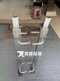 304不锈钢夹玻璃立柱 不锈钢楼梯立柱图片
