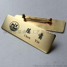 金属腐蚀烤漆胸牌,铜蚀刻工号牌,高品质胸卡