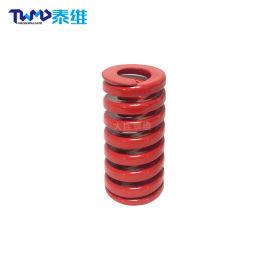 ISO标准矩形螺旋弹簧 机械行业设备弹簧 红色弹簧
