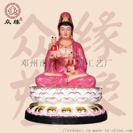 南海   菩薩 佛像定制廠家 雕刻彩繪觀音佛像