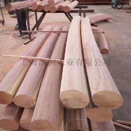 红梢木实木栏杆|红梢木户外栏杆|红梢木实木栏杆厂家