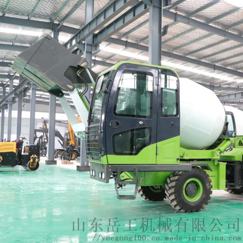 自上料搅拌车混泥土全自动一体式混凝土自动搅拌运输车