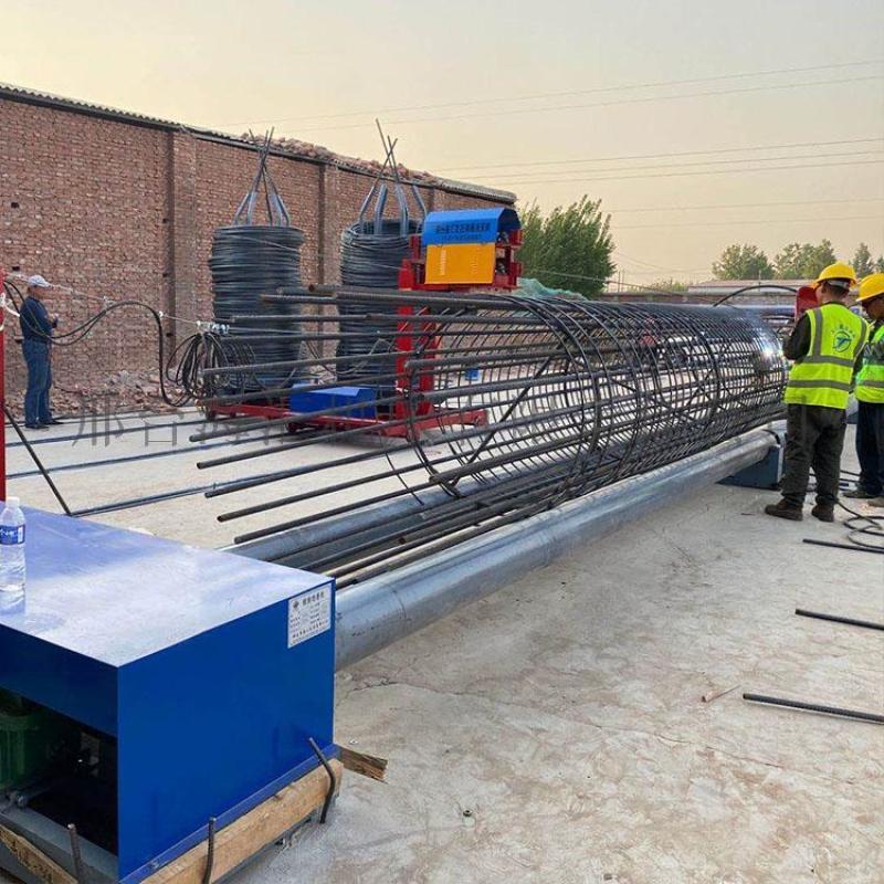 钢筋加工设备 方便操作型钢筋笼滚笼机