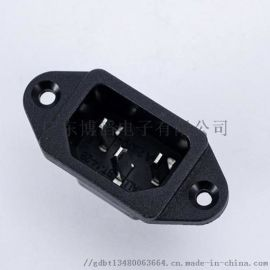 工廠|C14電源插座BT-14-2B 鎖式品字插座