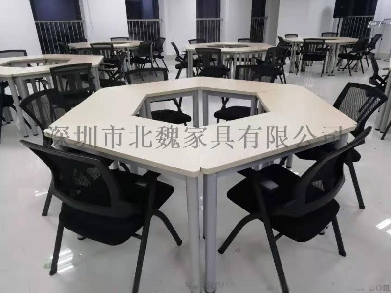 带写字板的培训椅-可以伸缩的会议椅-折叠椅带写字板