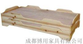 德阳儿童实木重叠床定制 绵阳幼儿园重叠床厂家