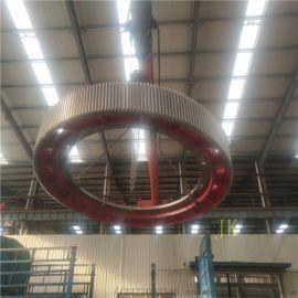 2.6米对开式耐磨合金钢142齿球磨机大齿轮