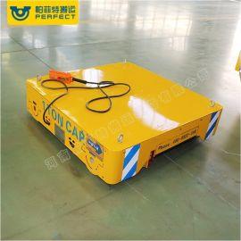 炼钢厂搬运铁水钢包式电动轨道平车耐火砖台面