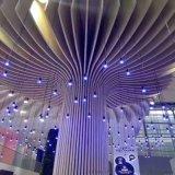 电商产业园包柱铝方通 轻纺城跨复杂圆柱铝单板造型