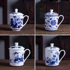 陶瓷泡茶杯 带盖过滤茶杯 茶水分离杯子