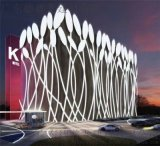 主題精品酒店鋁單板 外牆門頭造型樹葉鋁單板