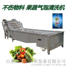 不锈钢猴头菇气泡清洗机 柿子气泡清洗机