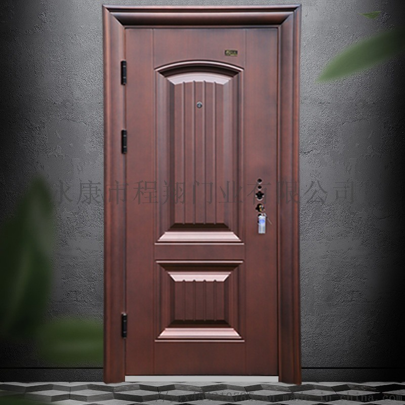 程翔甲级防盗门安全门双重锁进户门 防撬平开入户门