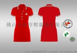 女式运动风纯色连衣裙