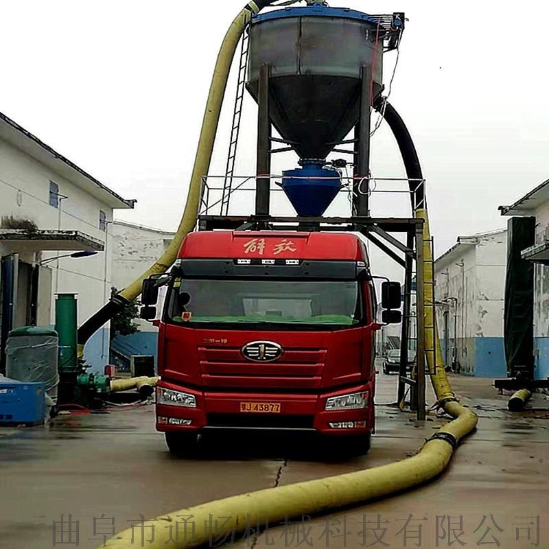 風力環保水泥石灰輸送設備遠距離吸送粉煤灰裝車輸料機