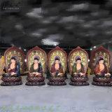 五方佛五世佛佛像 毗卢遮那佛像 贴金三世佛佛像