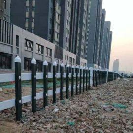 湖北孝感草坪防护栏 pvc庭院护栏