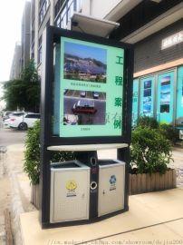 户外广告垃圾桶太阳能广告垃圾桶 市政环卫垃圾箱