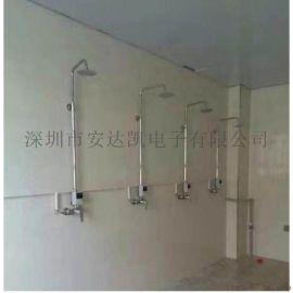 澡堂水控机方案 无线彩屏分体澡堂水控机