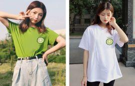 夏季2020新款韩版宽松印花白色短袖T恤女百搭打底衫内搭上衣ins潮