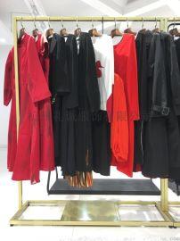 杭州品牌折扣女装蒂夫格20夏货源批发