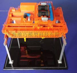 桥式起重机礼品模型 遥控运行演示不锈钢材质