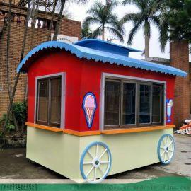 饮料食品售**车-超大空间流动小吃车售**车