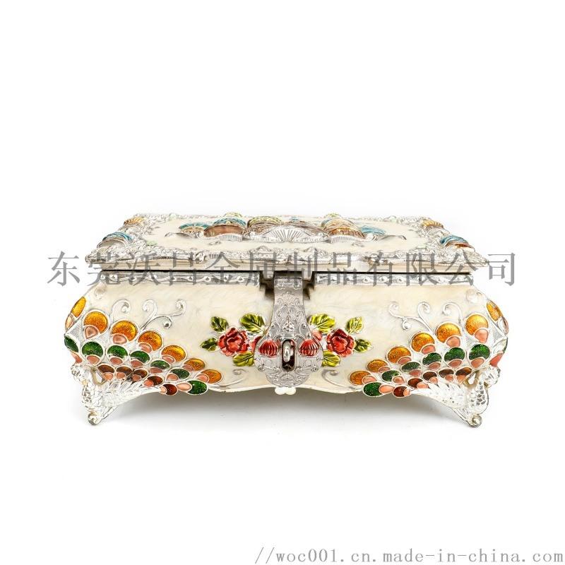 鋅合金工藝品首飾盒 創意珠寶首飾盒