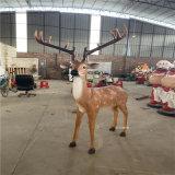 玻璃鋼梅花鹿雕塑公園綠地模擬動物雕塑
