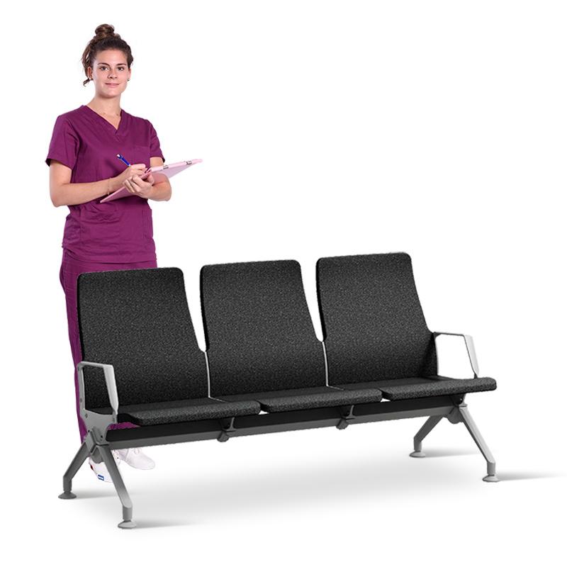 SKE006-2 候诊椅 不锈钢排椅 点滴椅