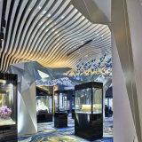 幕墙吊顶天花弧形铝方通工艺造型铝方通吊顶